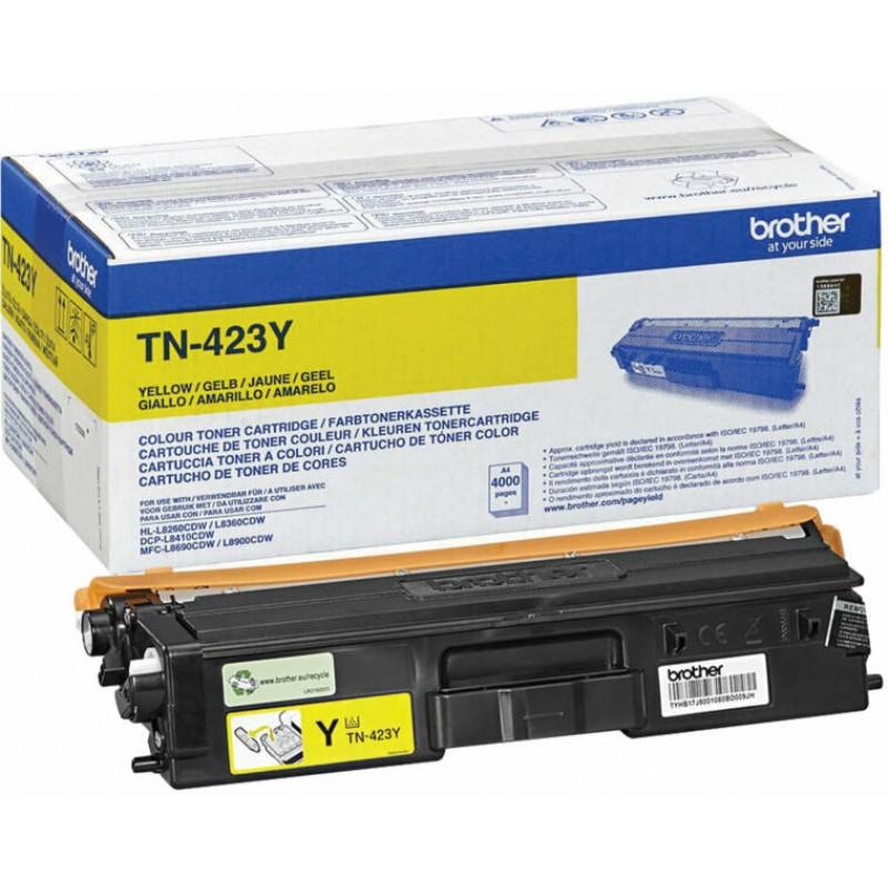 Оригинална тонер касета TN-423Y YELLOW за Brother HL-L8260/ HL-L8360/ DCP-L8410/ MFC-L8690/ MFC-L8900 за 4000 страници