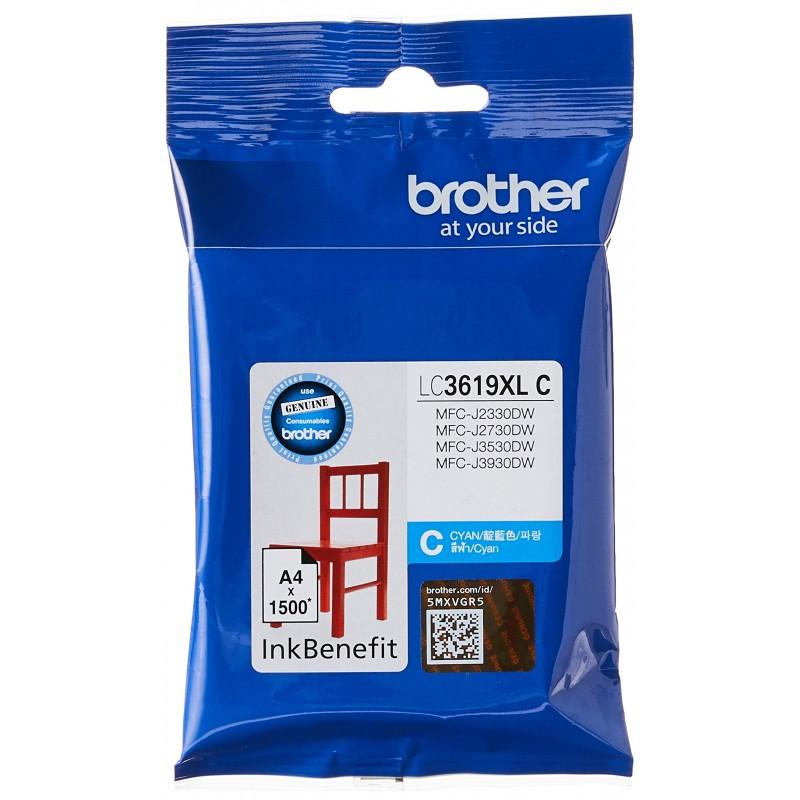 Патрон с мастило Brother LC-3619XL за MFC-J2330DW/ MFC-J3530DW/ MFC-J3930DW Cyan Ink Cartridge High Yield
