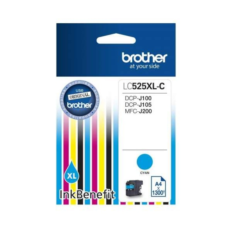 Патрон с мастило Brother LC-529XL за DCP-J100/ DCP-j105/ MFC-J200 Cyan Ink Cartridge High Yield