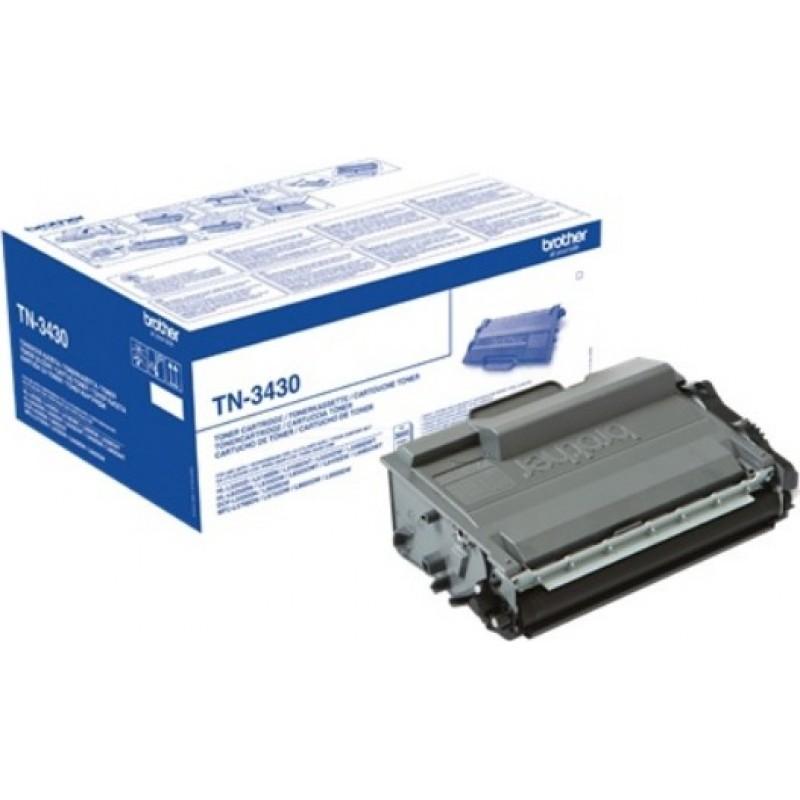 Оригинална тонер касета TN-3430 за Brother HL-L5000/ HL-L5100/ HL-L5200/ HL-L6300/ HL-L6400/ DCP-L5500/ DCP-L6600/ MFC-L5700/ MFC-L5750/ MFC-L6800/ MFC-L6900 за 3000 страници