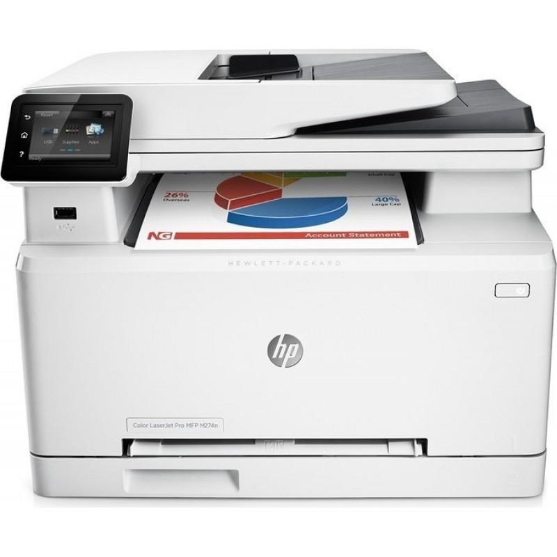 Цветно многофункционално устройство HP Color LaserJet Pro MFP M274n