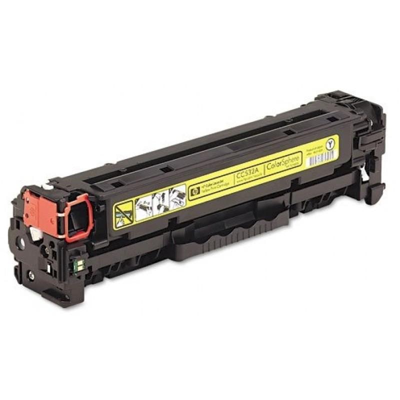 Рециклиране на тонер касета 304A CC532A за цветен лазерен принтерHP Color LaserJet CP2025/ CM2320 YELLOW